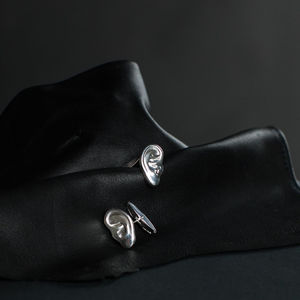 DEAFMETAL® Silver Ear Cufflinks