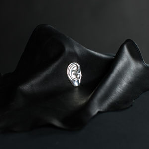 DEAFMETAL® Silver Ear Necklace