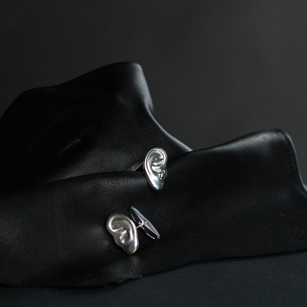 DEAFMETAL™ Silver Ear Cufflinks